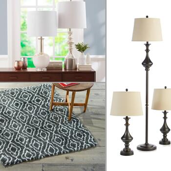 Lamps & Shag Rugs