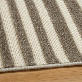 5'x7' Gray Stripes Area Rug view 2