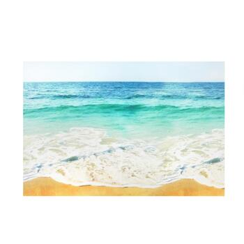 "24""x36"" Beach Waves Indoor/Outdoor Canvas Wall Art - Christmas Tree ..."