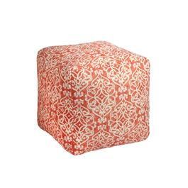 Damask Indoor/Outdoor Square Ottoman
