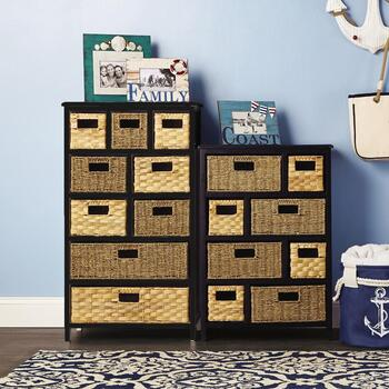 Multi-Basket Beadboard Cabinet Collection