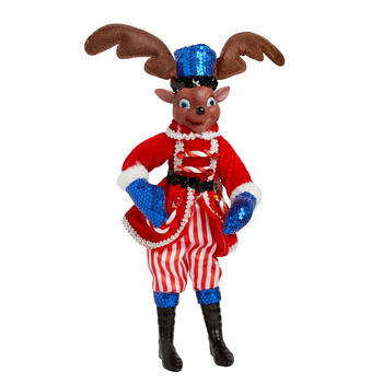"14"" Sequin Reindeer Poseable Ornament view 1"