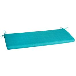 Solid Turquoise Indoor/Outdoor Bench Seat Pad
