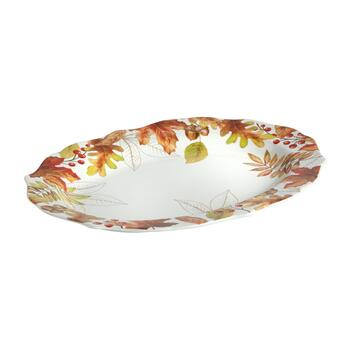 "10""x14"" Harvest Woodland Oval Serving Platter"