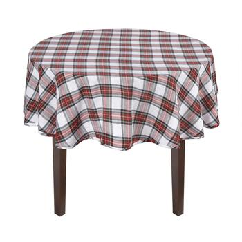 Green/Red Plaid Jacquard Cotton Tablecloth view 2