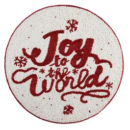 """Joy to the World"" Beaded Placemat"