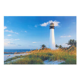 "24""x36"" White Lighthouse Indoor/Outdoor Canvas Wall Art view 1"