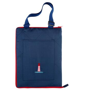 "50""x60"" Lighthouse Indoor/Outdoor Convertible Beach Blanket Tote"