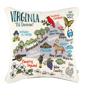 "Grey Whale Outfitters™ 20"" Virginia Throw Pillow"