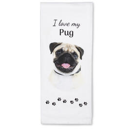 I Love My Pug Kitchen Towel view 1