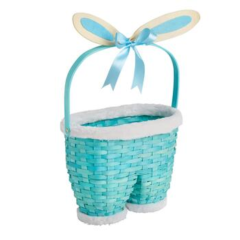 Bunny Pants Easter Basket with Bow Ears
