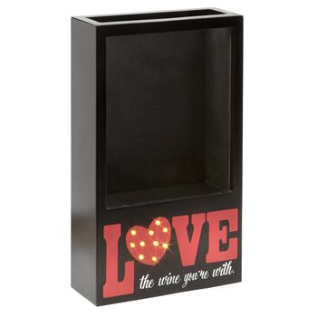 """Love the Wine You're With"" LED Cork Holder"