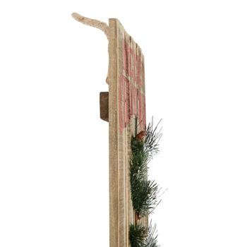 "20"" ""Merry Christmas"" Embellished Slatted Wooden Wall Decor view 2"