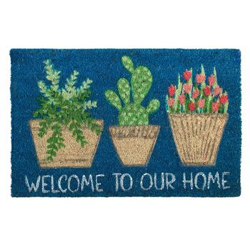 """Welcome to Our Home"" Coir Door Mat"