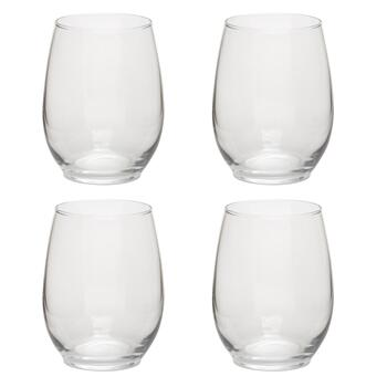 Arc Basic Stemless Red Wine Glasses, Set of 4