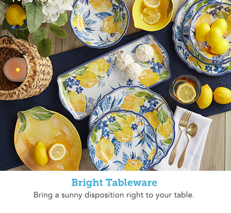 Bright Tableware. Bring a sunny disposition right to your table.