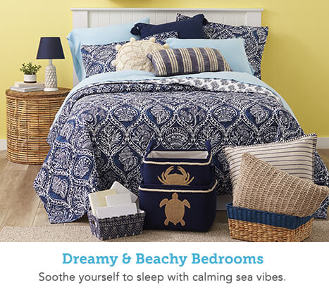 Dreamy & Beachy Bedrooms. Soothe yourself to sleep with calming sea vibes.