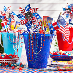 4th of July Favors Bucket