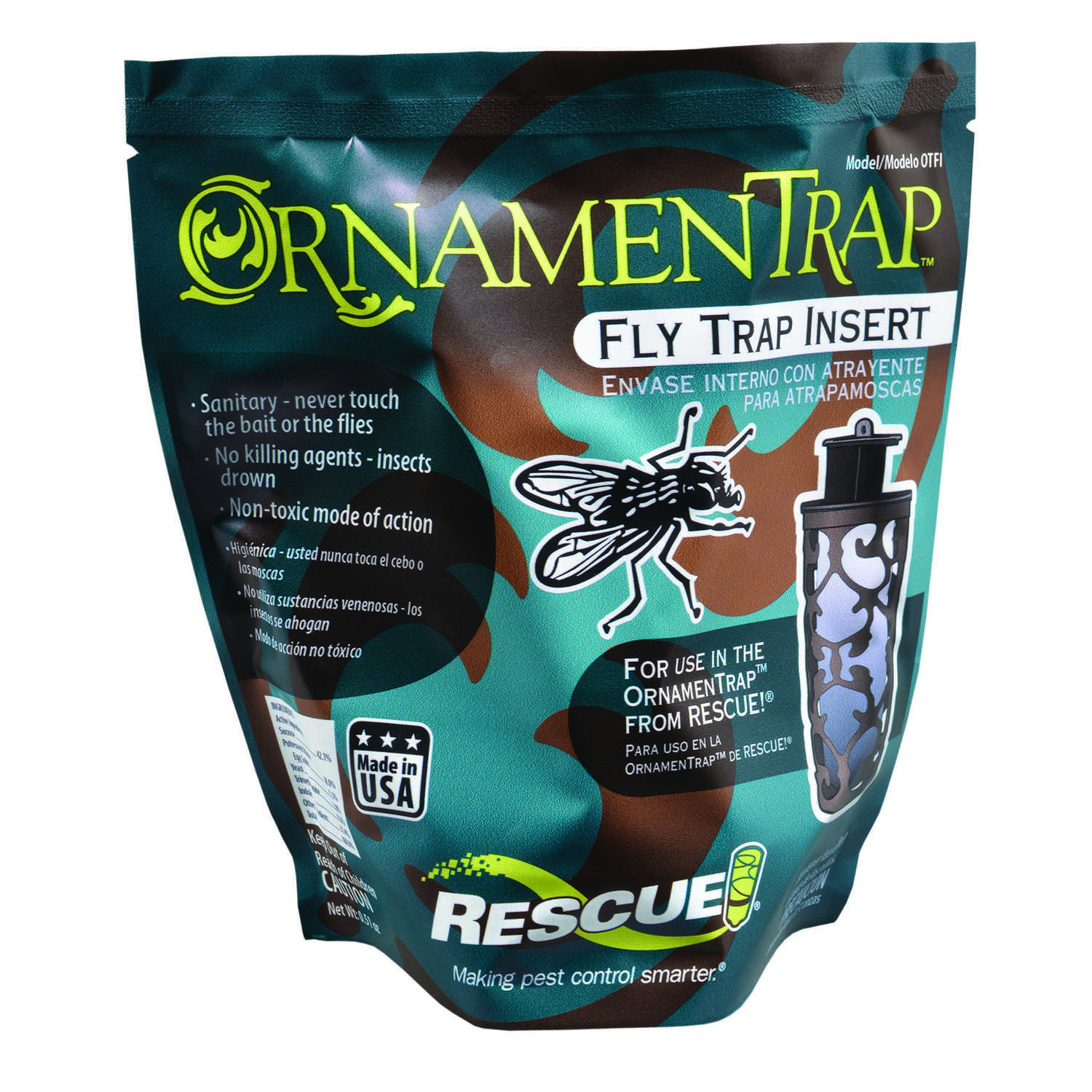 RESCUE  Ornament Trap  Fly Trap  1 pk