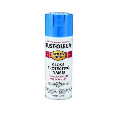 Rust-Oleum  Stops Rust  Gloss  Sail Blue  Spray Paint  12 oz.
