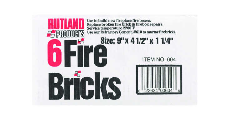 Rutland Sand Ceramic Fire Brick - Ace Hardware