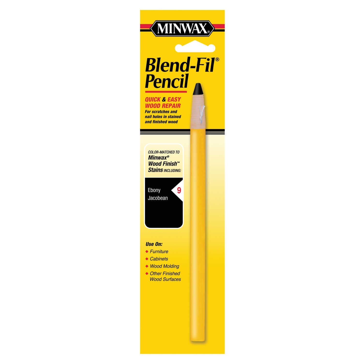 Minwax  Blend-Fil No. 9  Ebony and Jacobean  Wood Pencil  1 oz.