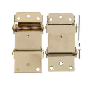 Ace  3 in. L Bright Brass  Brass  Self Closing Hinge  2 pk