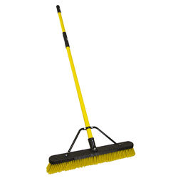 Quickie  Jobsite  Polypropylene  24 in. Multi-Surface Push Broom