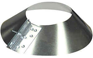Imperial Manufacturing  4 in. Dia. 30 Ga. Galvanized Steel  Storm Collar