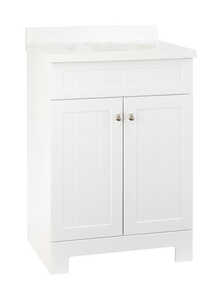 Continental Cabinets  Single  White  Vanity Combo  33-1/2 in. H x 24 in. W x 18 in. D