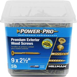 Power Pro  No. 9   x 2-1/2 in. L Star  Flat Head Ceramic Coated  Deck Screws  5 lb. 501 pk
