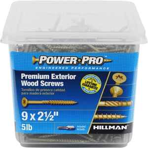 Power Pro  No. 9   x 2-1/2 in. L Star  Flat Head Ceramic Coated  Steel  Deck Screws  5 lb. 501 pk