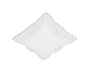 Westinghouse  Square  White  Glass  Fan/Fixture Shade  1 pk