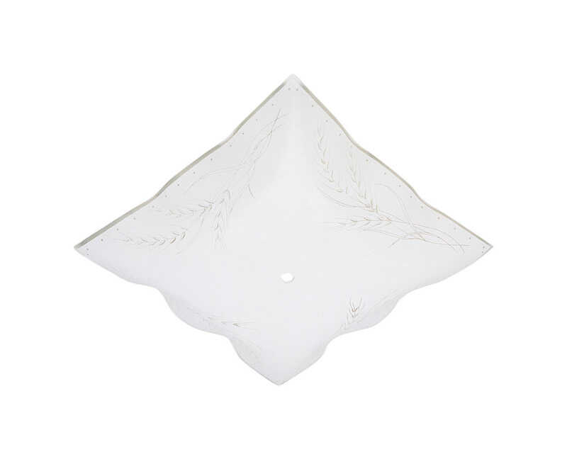 Westinghouse  Square  White  Glass  Fan/Fixture Shade  1