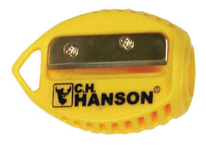 C.H. Hanson  2.3 in. L x 1.1 in. W Carpenter Pencil Sharpener  Yellow  Plastic  10 pc.