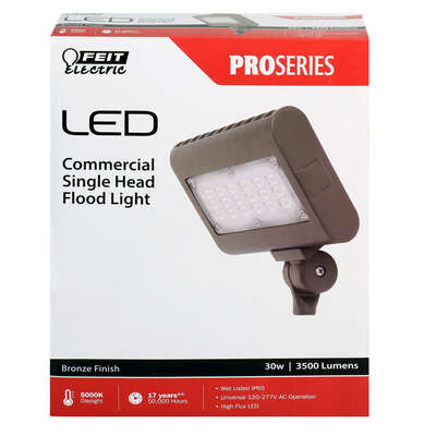 FEIT Electric Switch Hardwired LED Bronze Floodlight
