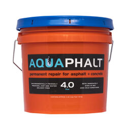 Aquaphalt 4.0 Black Water-Based Asphalt and Concrete Patch 3.5 gal.