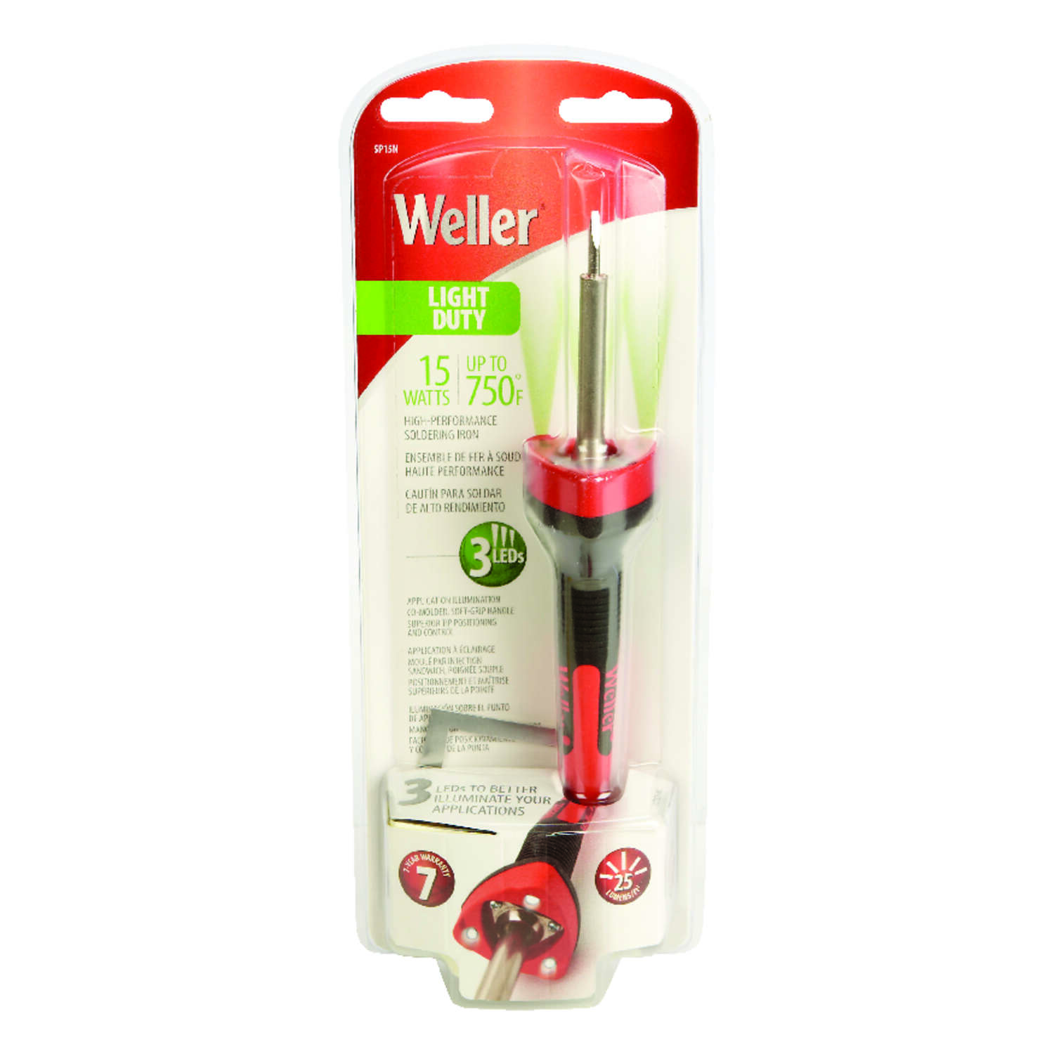 Weller  10.8 in. Corded  Soldering Gun Kit  15 watts Orange  1 pk