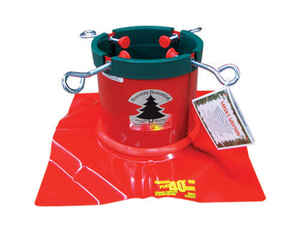Christmas Mountains  Steel  Red  Christmas Tree Stand  8 ft. Maximum Tree Height
