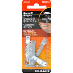 HILLMAN  AnchorWire  Steel  Small  Self-Leveling Hanger  6 pk 1 lb.