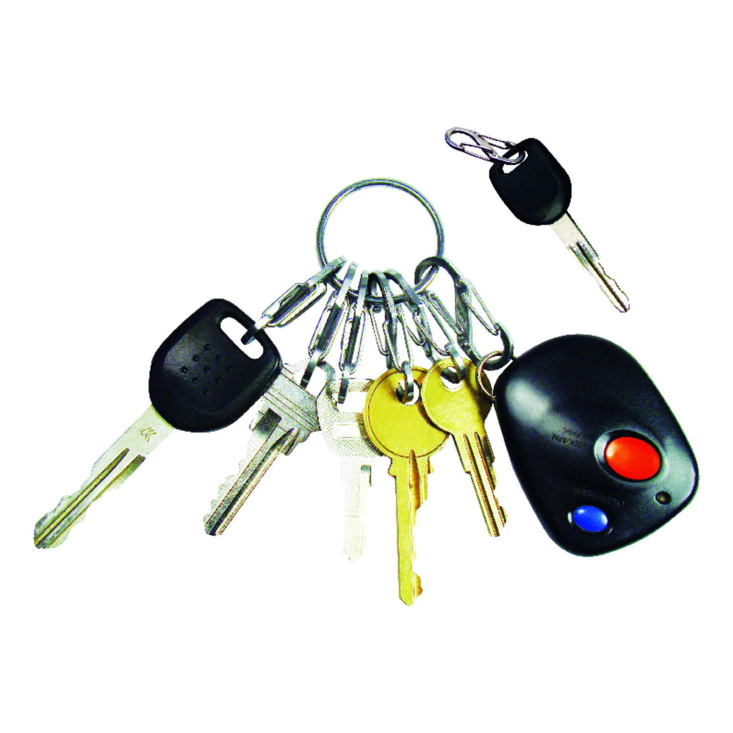 Nite Ize  KeyRing Steel  2 in. Dia. Stainless Steel  Silver  Key Ring