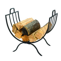 Panacea  Black  Matte  Steel  Log Rack