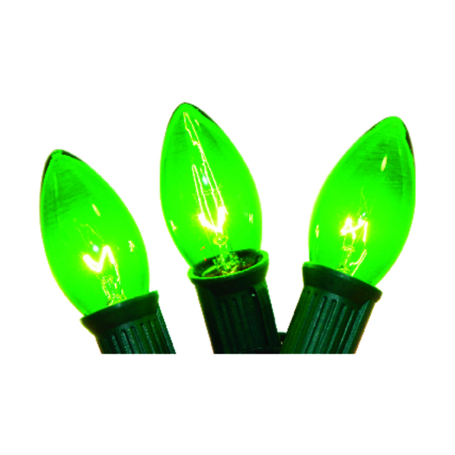 Celebrations Light Set 25 Lights Green C9 25 Ft Ul Listed