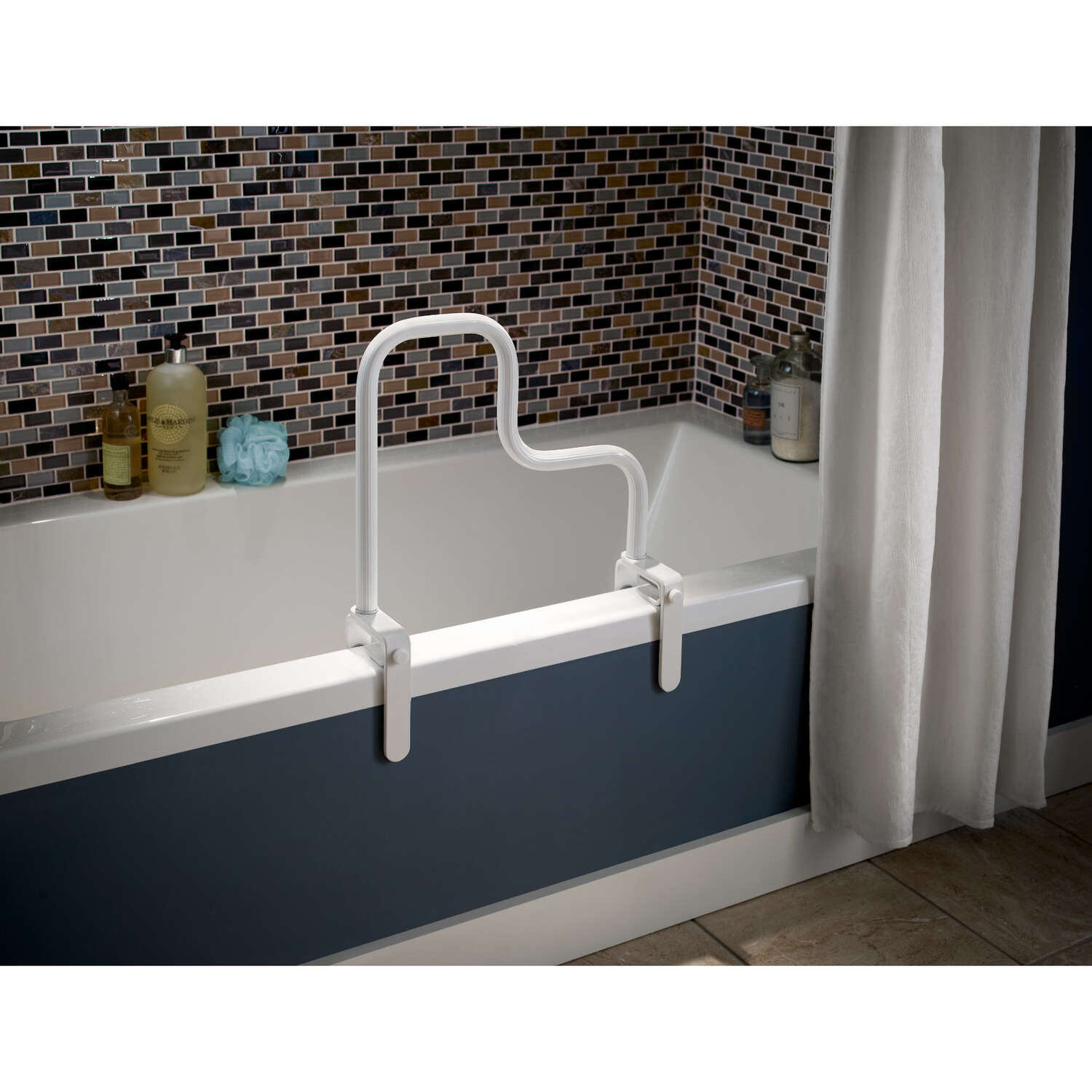 Delta  White  Tub Safety Bar  Steel  14-1/2 in. H x 15-1/4 in. L