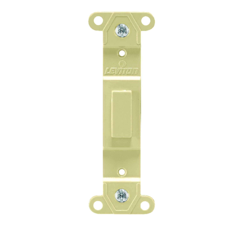 Leviton Ivory 1 gang Nylon Blank Wall Plate 1 pk - Ace Hardware