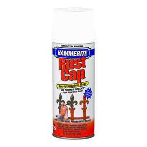 Hammerite  Rust Cap  Smooth  White  Enamel Finish Spray  12 oz.