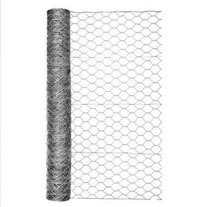 Garden Zone  48 in. H x 50 ft. L 20 Ga. Silver Gray  Poultry Netting