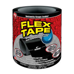 Flex Tape  As Seen on TV  4 in. W x 5 ft. L Black  No  Waterproof Repair Tape