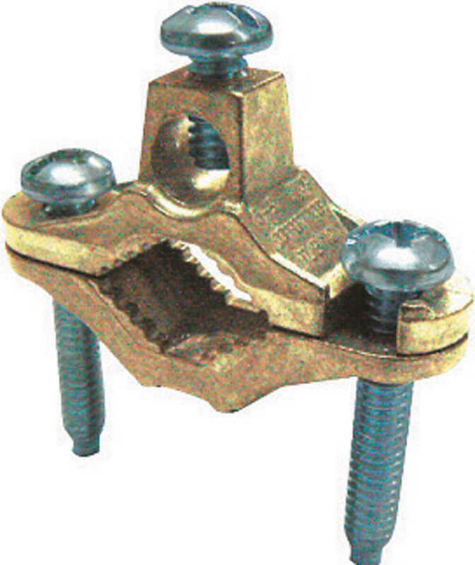 Sigma Electric ProConnex  1/2 in. Bronze  Ground Clamp  1 pk