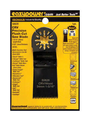 Eazypower  Isomax  1-15/16   x 37316 in. L Chrome Vanadium Steel  Precision Flush Cut Saw Blade  1 p